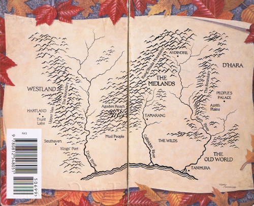 Map from Terry Goodkind's Wizard's First Rule
